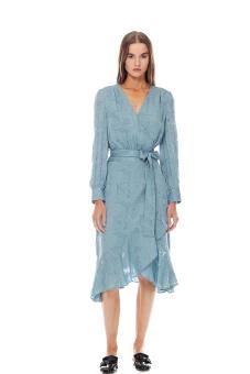 Lily omlottklänning blå