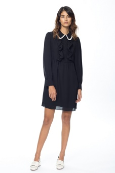 Pamela sidenklänning svart