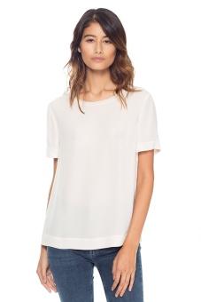 Siden t-shirt vit