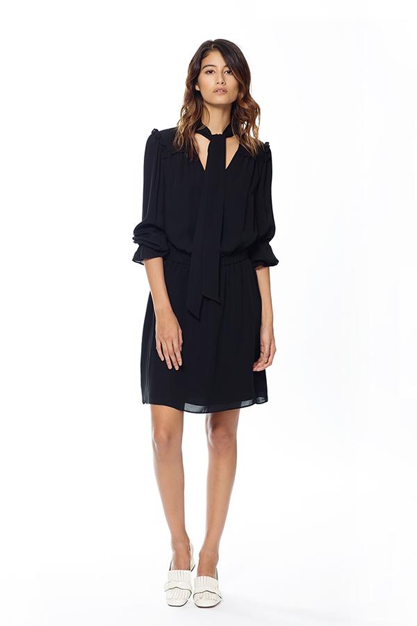 Connie sidenklänning svart