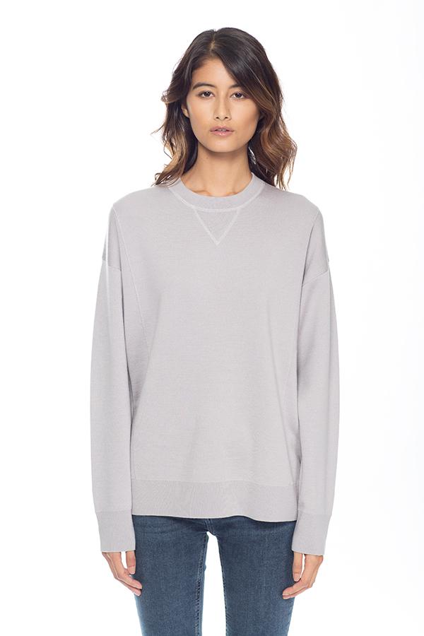 Jersey sweatshirt grå