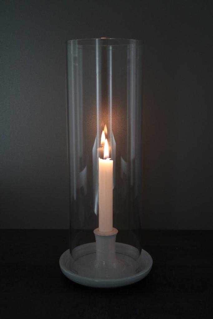 Röhälla ljusstake med stormglas stor