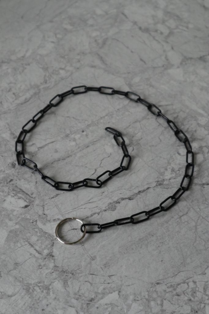 Kedja svart 60cm med nyckelring