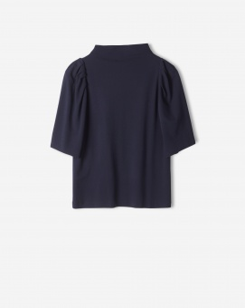 Cotton Crepe Pleat Top