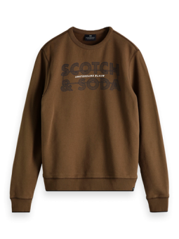 SCOTCH AND SODA Ams Blauw Graphic Sweat