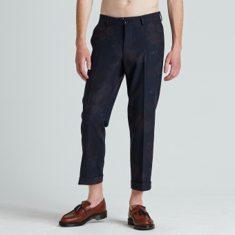 Cropped Flannel Trousers