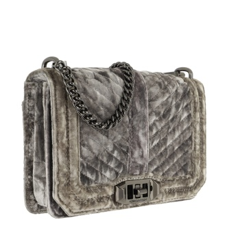 REBECCA MINKOFF Medium Chevron Quilted Love