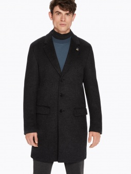 SCOTCH & SODA Classic 3-button coat in wool blend quality
