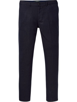 Mott - Dressed chino with mini jacquard pattern