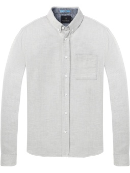 REGULAR FIT Shirt in brushed melange soft cotton quality