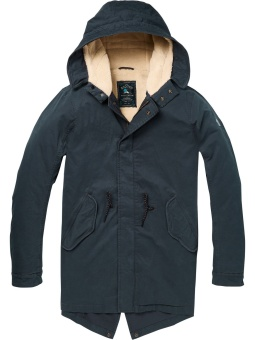 SCOTCH & SODA Parkas Classic hooded with teddy lining
