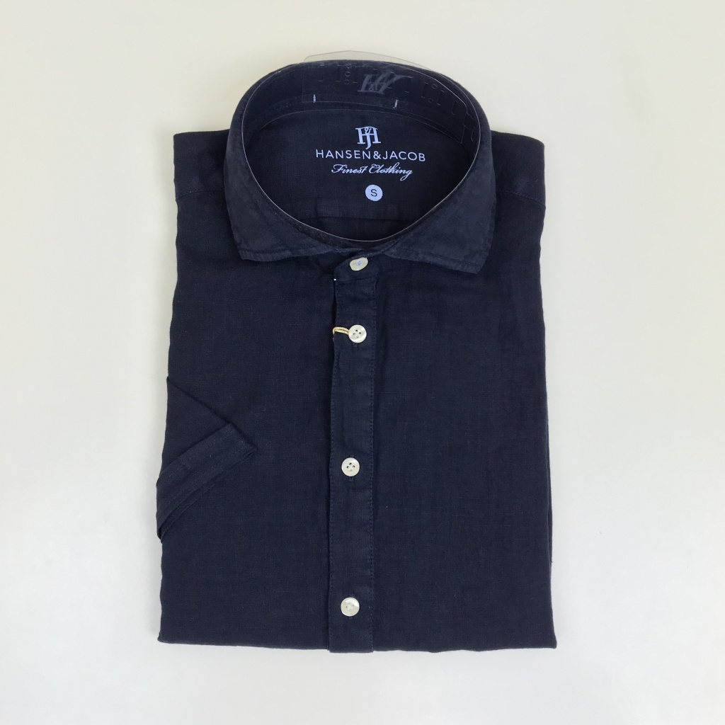 Hansen & Jacob, Short sleeve linen skjorta