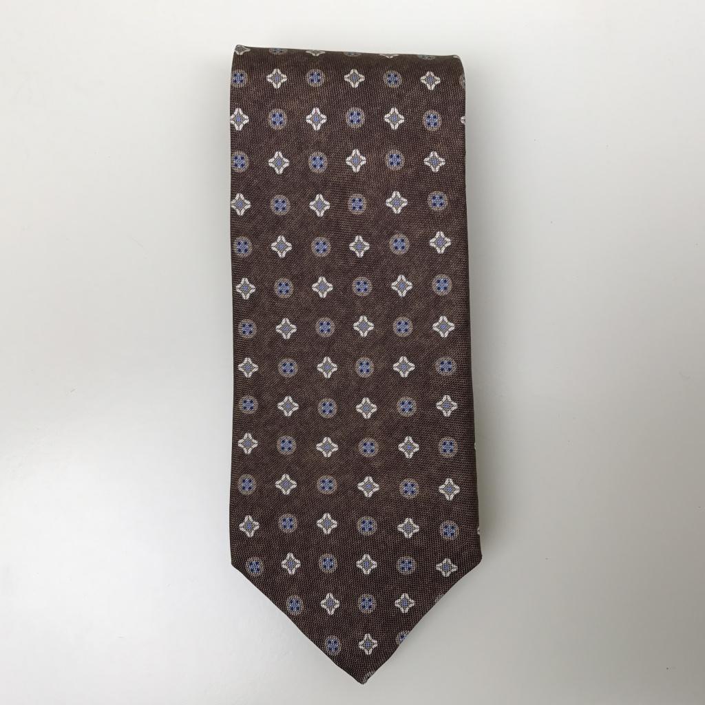 Stenströms, Silk tie with medallion pattern