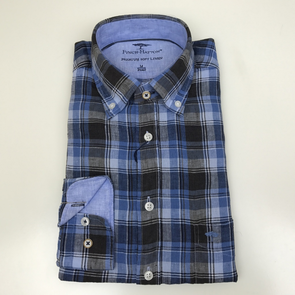 Fynch Hatton, The linen combi shirt