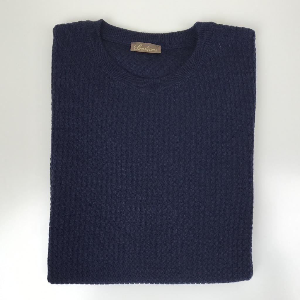 Stenströms, Textured knit crew neck
