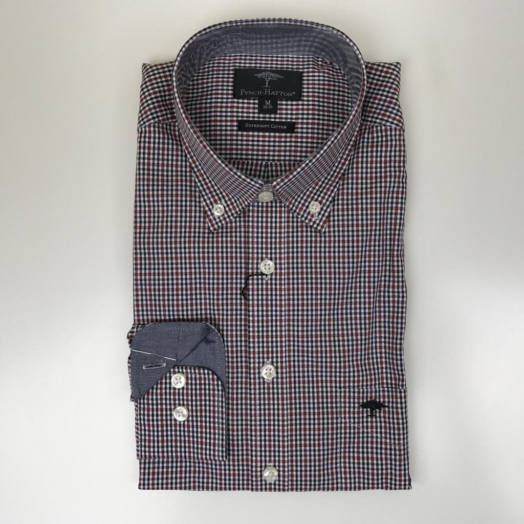 Fynch Hatton, Combi check shirt