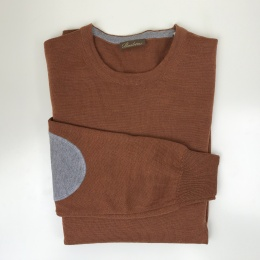 Stenströms, Merino crew neck with patches