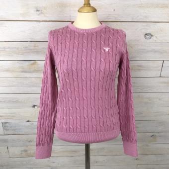 GANT, sunbleached cable cotton crew tröja