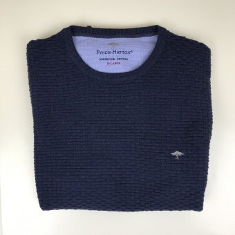 Fynch Hatton, O-neck structure knitwear