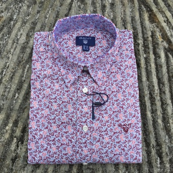 Gant, stretch broadcloth dotty leaf shirt
