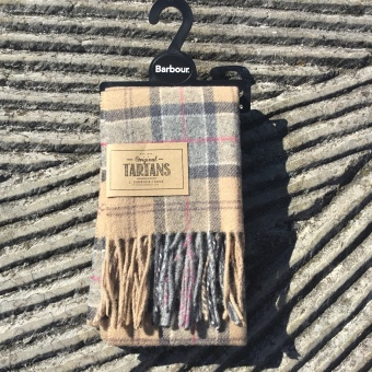 Barbour, tartan lambswool scarf