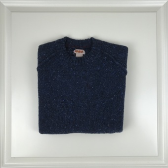 Baracuta, tweed crew neck sweater
