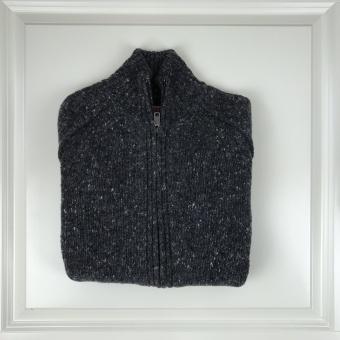 Baracuta, tweed full zip sweater