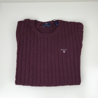 Gant, kabelstickad tröja
