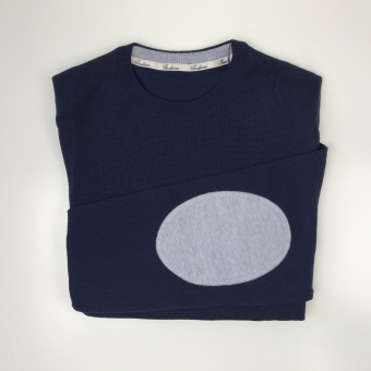 Stenströms, crew neck w patch