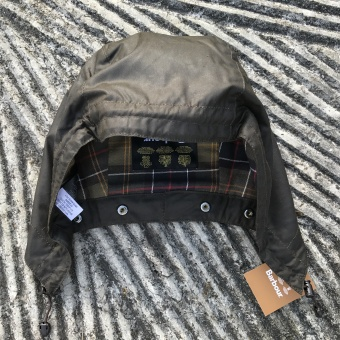 Barbour, classic waxed hood