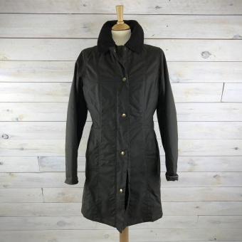 Barbour Belsay wax olive