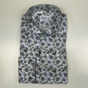 Stenströms, Vivid floral fitted body shirt