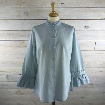 Stenströms, Silk blouse with neckfrill