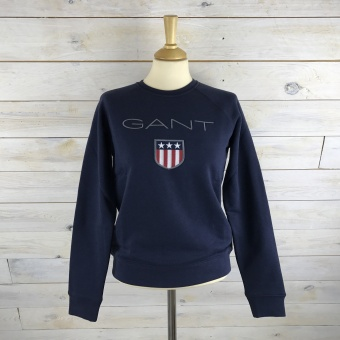 GANT, Shield logo c-neck sweat
