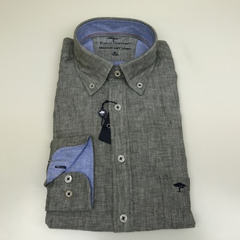 Fynch Hatton, Soft solid linen shirt