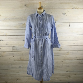GANT, Striped linen shirt dress