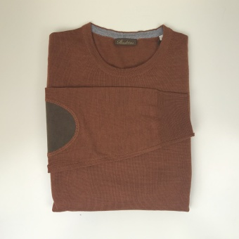 Stenströms, Merino r-neck with patches