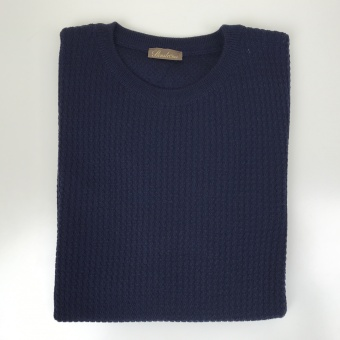 Stenströms, Textured knit crew neck