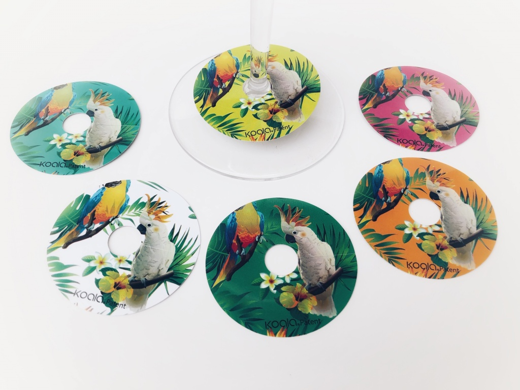Glass markers Parrots