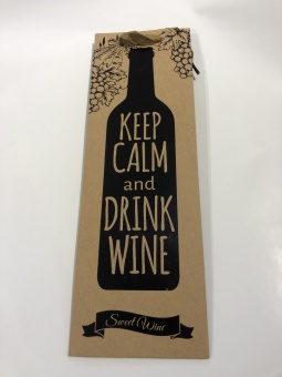 Wine Paper Bag Keep Calm
