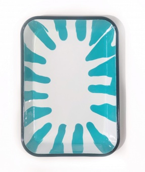 Kapka Turquoise Serving Tray