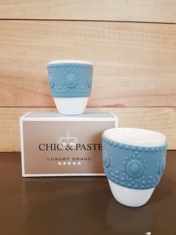 Set 2 coffe cup Blue/Grey