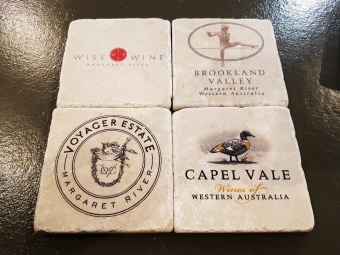 Coaster Australian Wine Labels