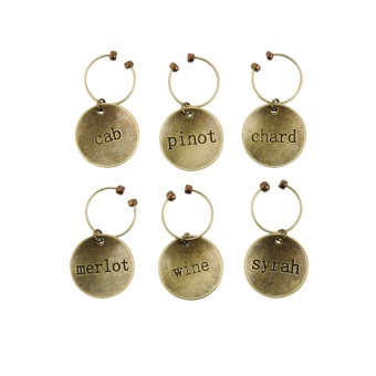 TWINE Varietal metal Wine charms