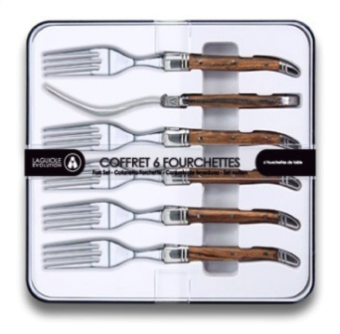 Tradition Laguiole forks 6 light wood