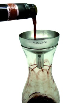 Wine decanter funnel