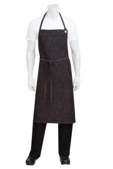 Corvallis Chef's BiB Black-Burgundy