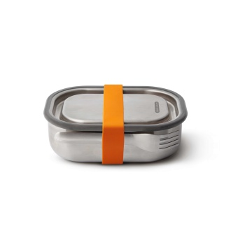 Stainless steel lunch box Orange Small