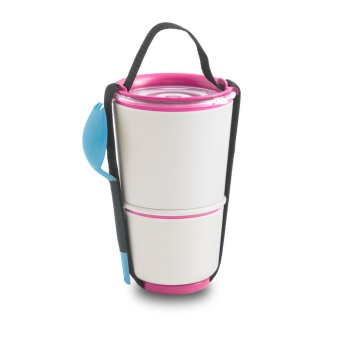 LUNCH POT White / Pink