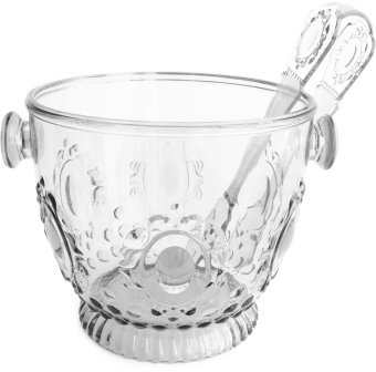 Ice Bucket with tong Clear